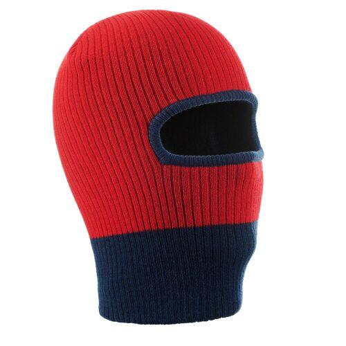 WEDZE Ski Kopfhaube Strick Kid Kinder rot/blau