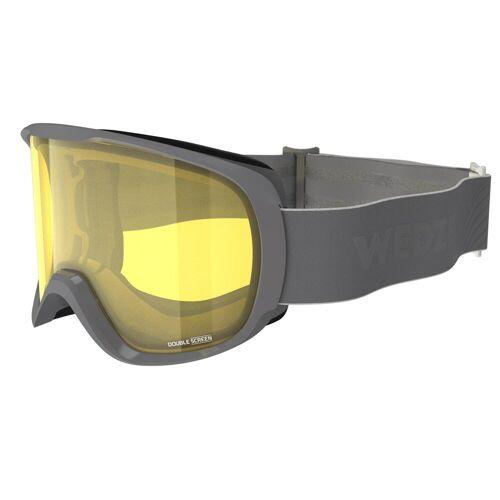 WEDZE Skibrille Snowboardbrille G 500 S1 Schlechtwetter Erwachsene/Kinder grau