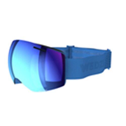 WEDZE Skibrille Snowboardbrille G 900 I Allwetter Erwachsene/Kinder blau
