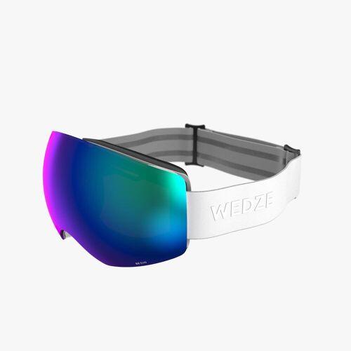 WEDZE Skibrille Snowboardbrille G 900 I Allwetter Erwachsene/Kinder weiss