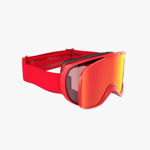 WEDZE Skibrille Snowboardbrille G 500 I Allwetter Erwachsene/Kinder Rot
