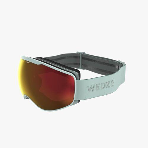 WEDZE Skibrille / Snowboardbrille G 900 Allwetter Kinder/Erwachsene grün