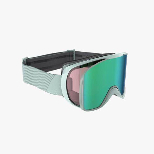 WEDZE Skibrille Snowboardbrille G 500 I Allwetter Erwachsene/Kinder grün