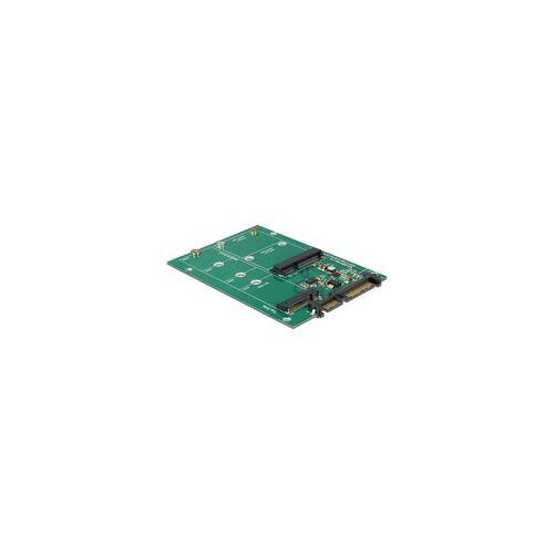 Delock Sata 22 Pin  1 x M.2 + 1 x mSATA, Serial ATA-Controller