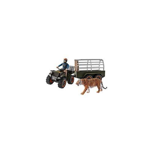 Schleich Quad mit Anhänger und Ranger, Spielfigur
