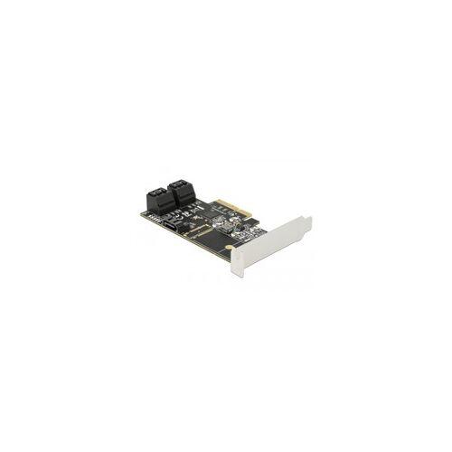 Delock 5 Port SATA PCI Express x4 Karte - Low Profile Formfaktor, Adapter