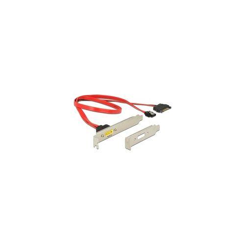 Delock Slotbech SATA 6 Gb/s 7 Pin + SATA 15 Pin  SATA Pin 8 Power, Kabel