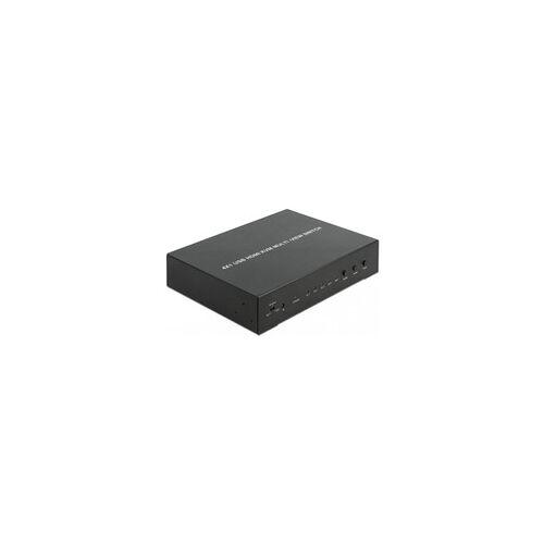Delock KVM 4in1 Multiview Switch 4x HDMI USB 2.0, KVM-Switch