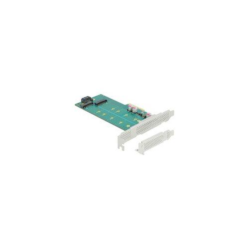 Delock PCI Express x4 Karte zu 1 x M.2 Key B + 1 x NVMe M.2 Key M, Controller