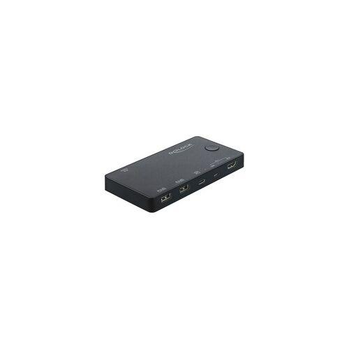 Delock HDMI / USB-C™ KVM Switch 4K 60 Hz mit USB 2.0, KVM-Switch
