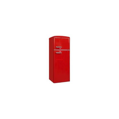 Exquisit RKGC270-45-H-160E rot, Kühl-/Gefrierkombination