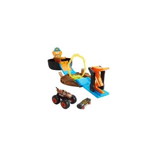 Hot Wheels Monster Trucks Stunt-Reifen Spielset, Rennbahn