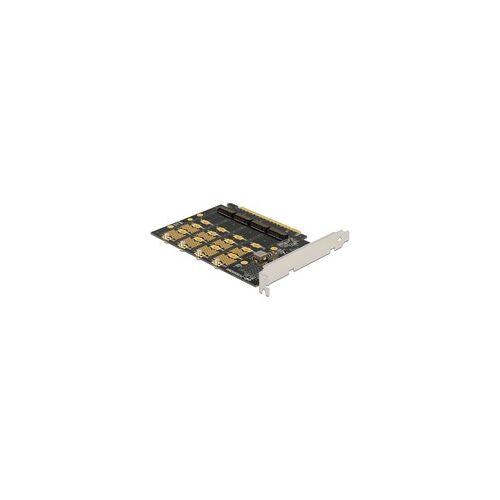 Delock PCIe 16x Karte  4x Intern NVMe M.2, Controller