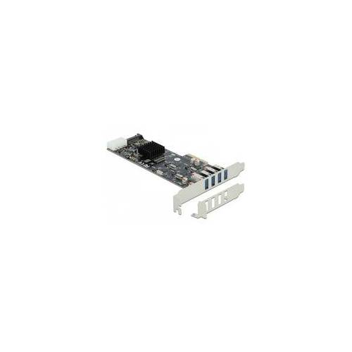 Delock PCIe x4  4x extern USB 3.2 Gen 1 Typ-A, USB-Controller