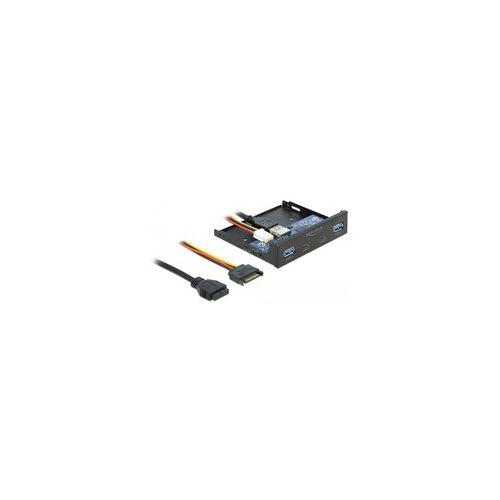 "Delock 3.5"" USB 3.2 Gen 1 Front Panel 2 x USB Type-C + 2 x USB Typ-A, Frontpanel"