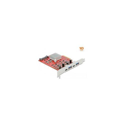 Delock PCIe x4 2x USB 3.2 Gen 2 Typ-A + 2x USB-C, USB-Controller