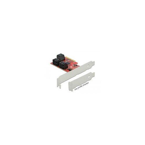 Delock PCIe 6P SATA PCIe x4Karte - LP, Controller