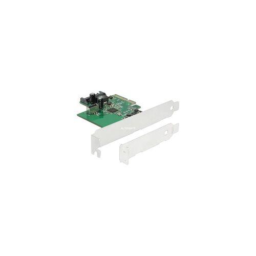 Delock PCIe Karte  1x int. USB 3.2 Gen 2 Key A 20 Pin, Schnittstellenkarte