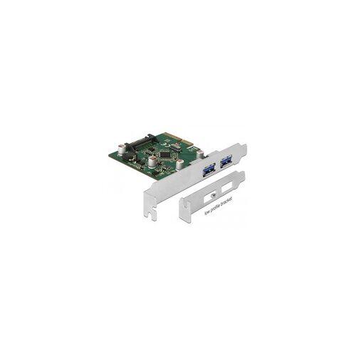 Delock PCIe x4  2x ext USB 3.1 Gen2 A, USB-Controller