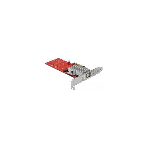 Delock PCIe x8 2x int. NVMe M.2 Key M LP, Adapter