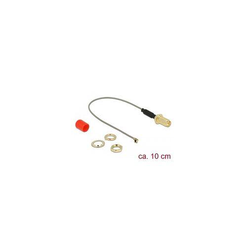 Delock Antennenkabel RP-SMA (Buchse zum Einbau)  MHF (Stecker), Adapter
