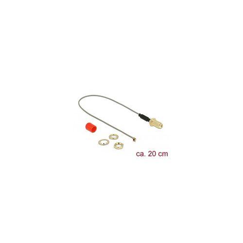 Delock Antennenkabel SMA (Buchse zum Einbau)  MHF (Stecker), Adapter