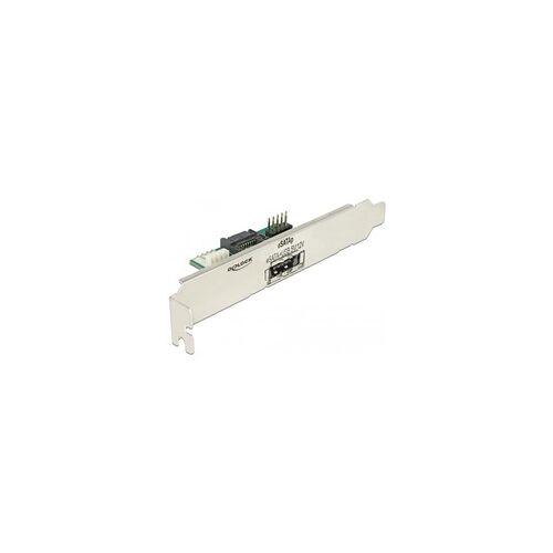 Delock Slotblech 1 x eSATApd 5 V / 12 V, Slotblende