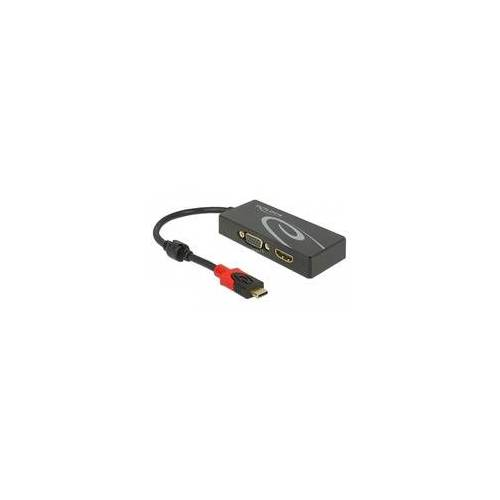 Delock Splitter USB-C   1x HDMI + 1x VGA, Video-Splitter