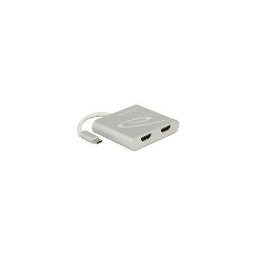 Delock Splitter USB Type-C  2x HDMI 4K, HDMI Splitter