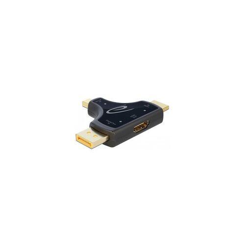 Delock 3in1 Monitoradapter HDMI / DisplayPort / mini DisplayPort  HDMI