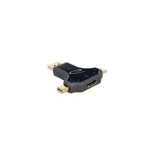 Delock 3in1 Monitoradapter USB-C / DisplayPort / mini DisplayPort  HDMI