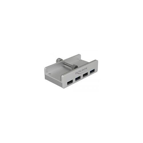 Delock Externer USB 3.0 4 Port Hub mit Feststellschraube, USB-Hub
