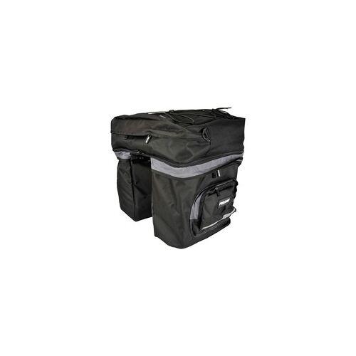 Fischer Fahrrad Tasche Gepäckträger 3fach, Fahrradkorb/-tasche