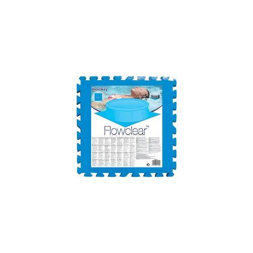 Bestway Bodenschutzfliesen-Set, 8 Stk, 50cm x 50cm, Schutzfolie
