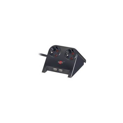 Brennenstuhl Desktop-Power USB-Charger, 2-fach Steckdose, Steckdosenleiste