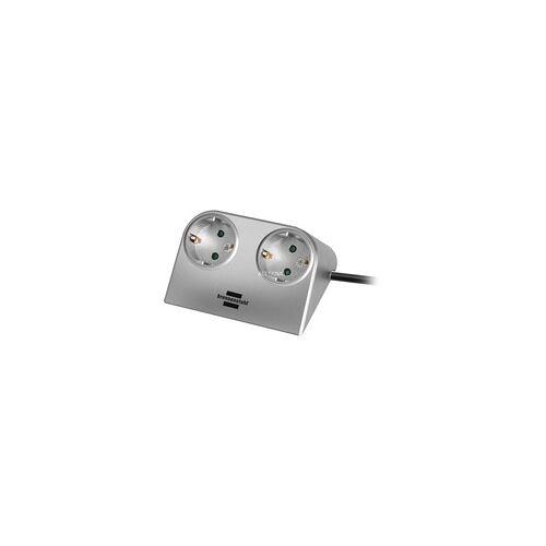 Brennenstuhl Desktop-Power Tischsteckdose 2fach, Steckdosenleiste