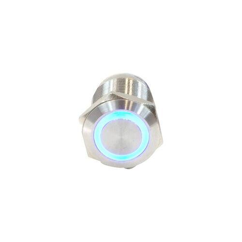 Phobya Klingeltaster 19 mm Edelstahl, blau beleuchtet