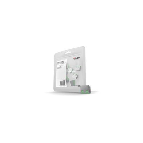 Lindy USB Port Schloss (10 Stück) ohne Schlüssel, Diebstahlschutz