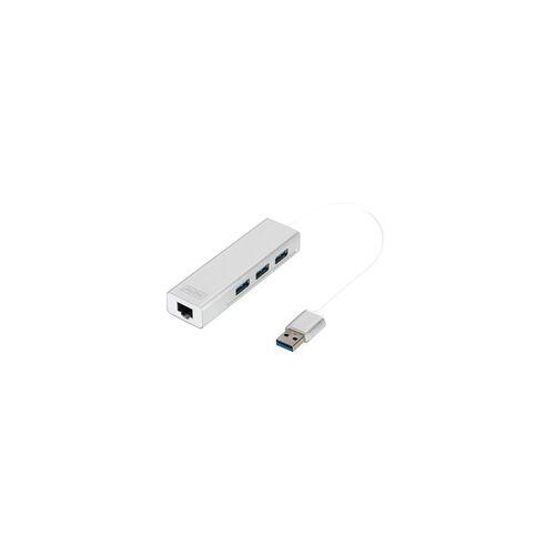 Digitus USB 3.0 3-Port Hub mit Gigabit LAN, USB-Hub