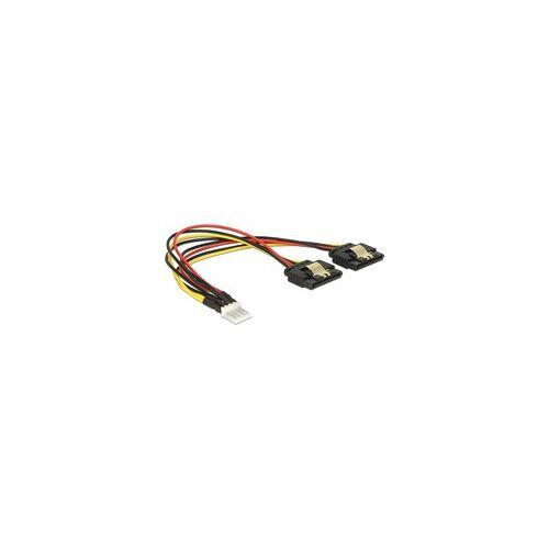 Delock Floppy Stecker  2x SATA 15Pin Buchse, Y-Kabel