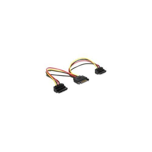 Delock Y-Kabel Power SATA 15 Pin  2 x SATA HDD