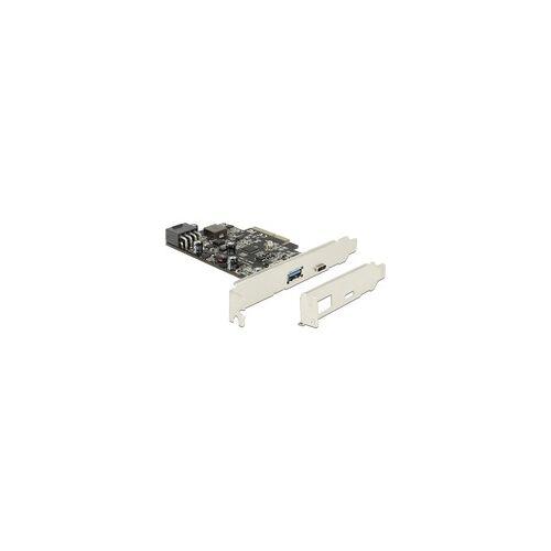 Delock PCIe x4 1x USB C+ 1x USB 3.1 A, Adapter