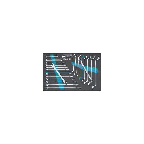 Hazet Ring-Maul- / Doppel-Ringschlüsssel Satz 163-30/25, Werkzeug-Set