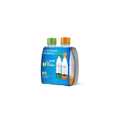 SodaStream PET-Flasche 0,5 Liter Tropfenform, Duopack, Trinkflasche