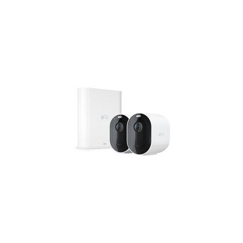 Arlo Pro 3 2K QHD Sicherheitssystem mit 2 Kameras + SmartHub, Überwachungskamera