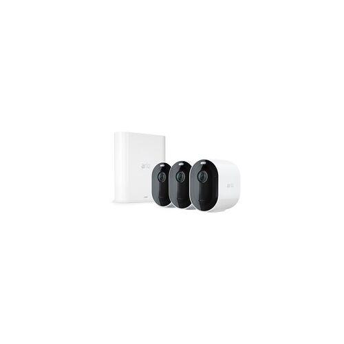 Arlo Pro 3 2K QHD Sicherheitssystem mit 3 Kameras + SmartHub, Überwachungskamera