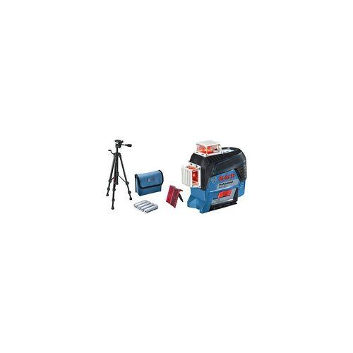 Bosch Linienlaser GLL 3-80 C Professional + Baustativ BT 150, Kreuzlinienlaser