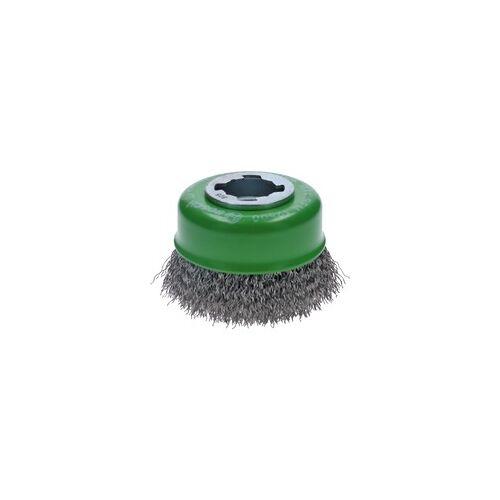 Bosch X-LOCK Topfbürste Clean for Inox 75mm, gewellt