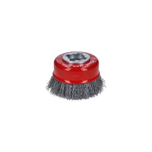 Bosch X-LOCK Topfbürste Clean for Metal 75mm, gewellt