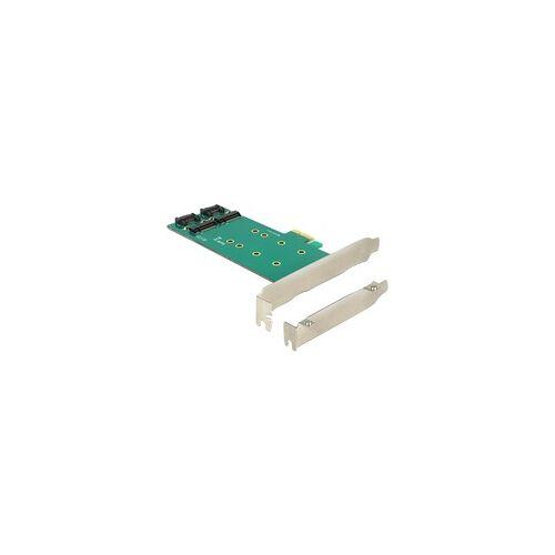 Delock PCIe x1  2 x M.2 Key B Low Profi, Adapter
